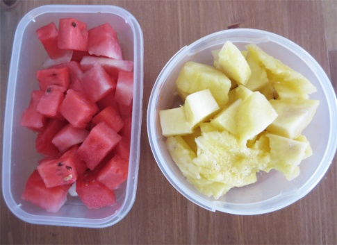 watermelon & pineapple